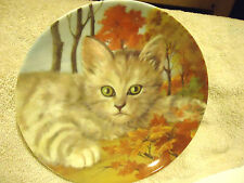 """Forest Cat"" Fine Porcelain Decorative Plate By Cats Collection.8"" In Diameter"