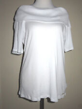 MICHAEL KORS Womens White 1/2 Sleeve Off Shoulder Boat Neck Top XL NEW $80
