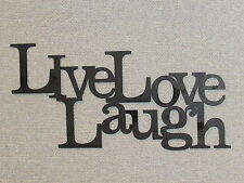 LIVE LAUGH LOVE Wood Word Art Sign Wall Decor Black