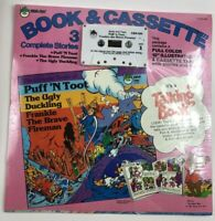 Book Cassette 3 Stories Talking Peter Pan Records Vintage 1981 Ugly Duckling