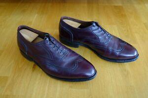 Allen Edmonds Marlow Burgundy Dress Shoes Oxford 11 EEE 3E extra wide wingtip