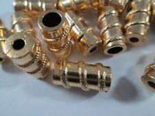 Klapp Kordelenden beige creme 10 Stück Kordelstopper für Kordel bis  6 mm
