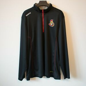 Ottawa Senators 1/4 Zip Pullover Jacket Men's Size XXL NHL Reebok Center Ice
