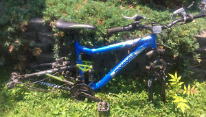 "Mongoose Ledge 2.1 Mountain Bike 21 Speed Full Suspension 27.5"" Wheel Frame Set"