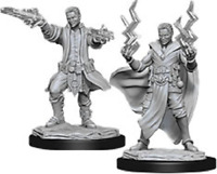 Male Human Paladin 2pk Nolzurs D/&D miniature Dungeons Dragons unpaintd fighter Z