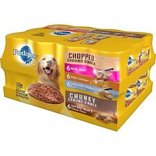 Pedigree Chopped Ground Dinner Wet Dog Food Variety Pack 24 ct. / 13.2 oz Cans
