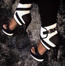 Sexy Oxford Womens Peep Toe European Retro Stilettos High Heel Shoes Uk Sz35-45