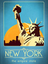 New York, Retro metal Aluminium Sign vintage / man cave