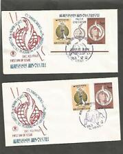 Korea 1963 Human Rights , set & souvenir sheet unadressed 2 fdcovers [zz -14