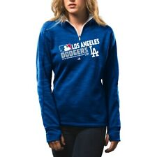 Womens Los Angeles Dodgers Sweatshirt Authen Collection 1/4-Zip Streak Fleece 2X
