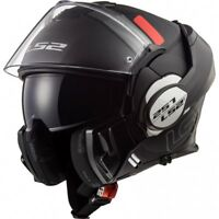 LS2 FF399 VALIANT MODULAR FLIP FRONT FULL FACE MOTORCYCLE HELMET PROX BLACK
