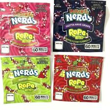 50 New Nerds Rope Bites Mylar Candy Bag Empty Square Gummy Zipper Packaging