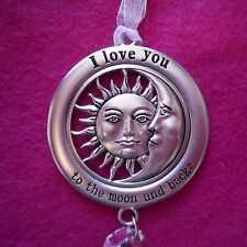 NEW Pewter Ornament/Sun Catcher with Crystal in Sun & Moon Design from Ganz