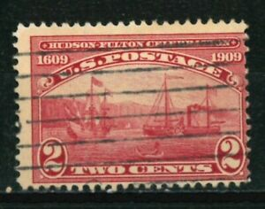US Stamps Scott #372 - 1909 - Hudson-Fulton Celebration Issue - USED