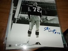 Steve Wright #72 Green Bay Packers  Signed/Auto   8 x 10.