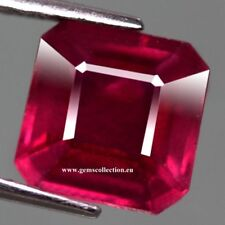AAA - NATURAL RUBY- RUBINO CT 4.08 SI PINKISH RED COLOR  SCISSOR CUT MONZAMBIQUE