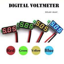 NEW 2-wire Mini DC 5-30V Voltmeter LED Panel 3-Digital Display Voltage Meter