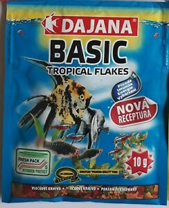 Tropical Flakes sachet - natural food for all tropical fish 10g BBE 01/22