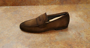 New! To Boot New York 'Enzo' Penny Loafer Shoes Brown Suede Mens 8 M MSRP $398