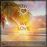 WE LOVE SUMMER 2016  2 CD NEU JENNIFER LOPEZ/SELENA GOMEZ/BOB MARLEY/+
