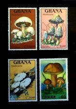 SELLOS SETAS GHANA 1989 1060/63 4v.