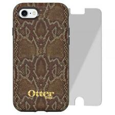 Original Otterbox IPHONE 8/7 Strada Robust Hülle & Alpha Glas Hölzerne Serpent