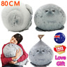 80cm Plush Animal Toy Chubby Blob Seal Cute Ocean Pillow Stuffed Doll Kids Gift