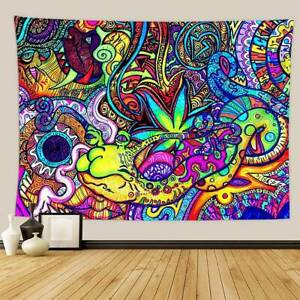 Tapestry Wall Hanging Bedspread Indian Trippy Gypsy Hippie Psychedelic Decors