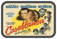 humphrey bogart Casablanca  movie poster repro  Novelty  Metal wall sign