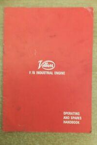 villiers F15 industrial engine instruction & spare parts list book vintage