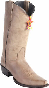 Los Altos POMEX Genuine Premium Leather Snip Toe Cowboy Western Boots D