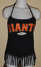 Ladies San Francisco Giants Reconstructed MLB Baseball Shirt Halter Top DiY