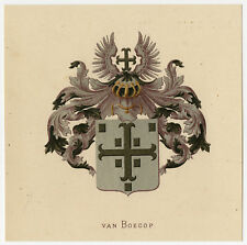 Antique Print-HERALDRY-COAT OF ARMS-VAN BOECOP-Wenning-Rietstap-1883