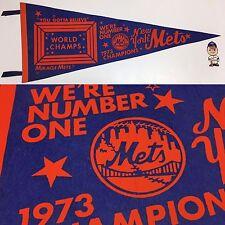 1973 Champs New York Mets NY Vintage Pennant MLB Baseball 12x29.75 Mr Met
