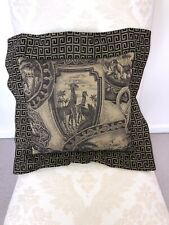 Vintage 90s African Safari Pillow Gold And Black 15x15