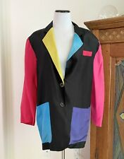 New listing vintage 90s colorblock silk blazer Express S