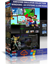 GAMES EMULATOR- PC WINDOWS - 65 SYSTEMS - 22.000  GAMES- RETROPIE - RECALBOX