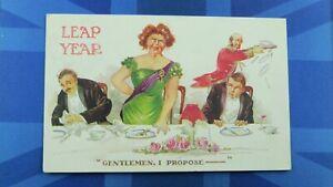Fred Spurgin Comic Postcard 1900's Suffragette Votes Women Leap Year GENTLEMEN I