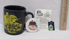 Paul Bunyan Collectible 50 Yr Coffee Mug Event Schedule Pin & Charm Lot Of 4