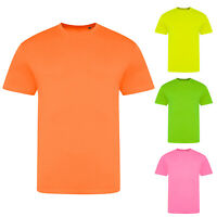 AWDis Just T's Unisex Plain Electric Neon Triblend Short Sleeved T-Shirt Tee Top