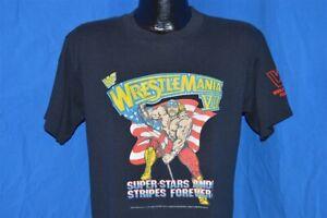 vintage 90s WRESTLEMANIA VII HULK HOGAN RULES LA COLISEUM 1991 WWF t-shirt M