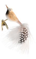 "Inge Glas ""Flynn"" Clip-On Bird Glass Ornament - Made in Germany (#421)"