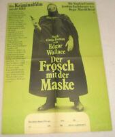 Filmplakat DDR ,Progress ,DER FROSCH MIT DER MASKE ,EDGAR WALLACE,J.Fuchsberger