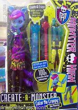 Monster High Create-a-Monster~Sea Monster~ Color me Creepy New