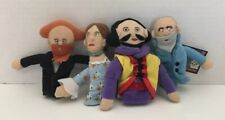 SETGreat Writers Plush Magnetic Finger Puppets Shakespeare Tolstoy Dickens Woolf