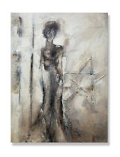 Large fine quality contemporary modern abstract oil painting on canvas 36x48