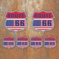 Route 66 USA Sticker set car motorbike van hotrod Retro Vintage Americana Decal