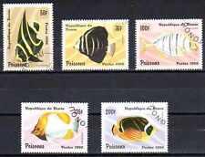 Poissons Bénin (32) série complète de 5 timbres oblitér��s