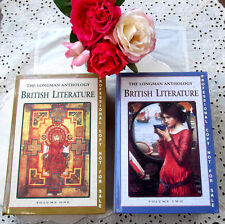 2 Huge Longman Anthology English Literature HC Books 1000 years about 6000 pages