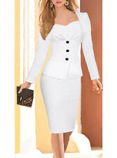 Peplum Tailored Professional Dress, Delivery In About 15 Days